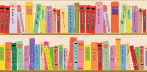 Book shelf banner