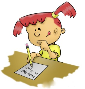 Girl Blogger cartoon_picture_of_girl_writing