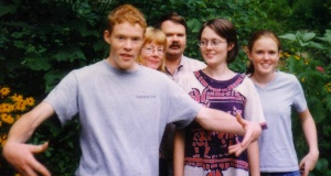 Drew Carter - before TBI with his family