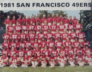 George Visger #74  4th row from bottom, 2nd from right  @ 1981
