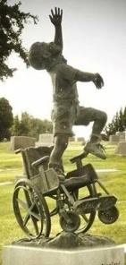 Cat Brubaker wheelchair pose