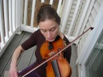 Melissa playing fiddle