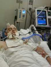 Daniel Mollino - TBI Survivor in hospital