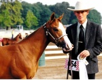 Bart Boughner, 2 months after TBI, poses with his horse.
