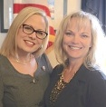 Cat Brubaker with Congresswoman Krysten Sinema