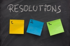 blank list of resolutions on blackboard