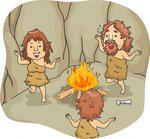 illustration-of-a-caveman-family-dancing-around-a-bonfire_158190224-1
